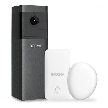 Bosma X1-DSDB, WiFi beveiligingsset voor binnen, met sensor en Smart Button